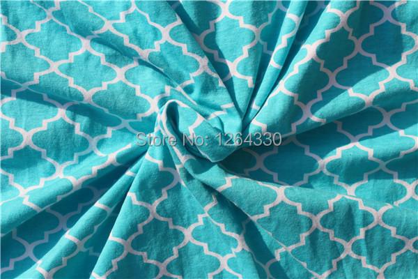 Venda quente azul quadrifoil Tecido para costura de têxteis de Algodão tecido Patchwork Pano 100*160 CENTÍMETROS KP-BL09