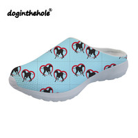 doginthehole Sport sandals Womens Clogs Greyhound Love Print Outdoor Flat Slippers Summer Beach Shoes for Women Breathable Mesh