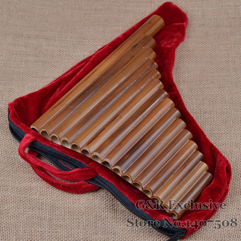 Professional pan fleyta 15 boru elementi Woodwind Flauta G açar - Musiqi alətləri - Fotoqrafiya 6
