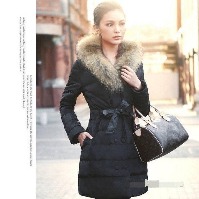 Aliexpress.com : Buy Long Slim Ladies Section Down Jacket Designer