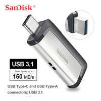 SanDisk Ultra Dual Drive USB 3.1 Tipo-C 256GB 128G 64G 32G Multifunzionale USB Flash drive Per Smartphone/Tablet/Computer