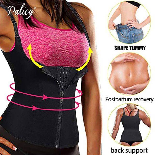 Spandex Shapers Neoprene Sauna Sweat Vest Waist Trainer Cinchers Women Body Trimmer Corset Workout Thermo Stomach Slimming Belt 1
