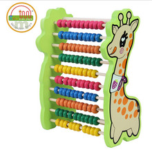 Wooden cartoon animal deer abacus calculation frame giraffe children mathematics educational math toys