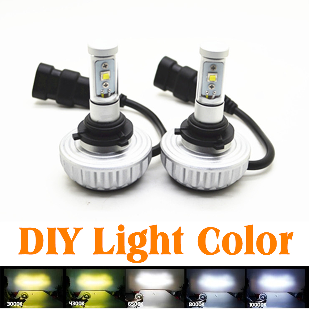 30W HB3 9005 Auto Car LED Cree High Power Headlight Kit Xenon 3000LM Fog DRL Light Source Car DIY Styling Light Color DC12V-24V 2 pieces h7 cree chip led 40w replacement 7200lm car drl fog auto led headlight conversion driving bulb car light source