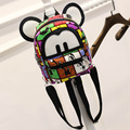 Cute Cute Cartoon Mouse Printing Backpack Canvas Backpacks For Teenage Girls College Style Casual Backpack Mochilas