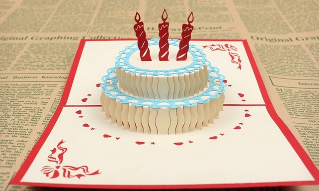 Diy 3d Birthday Cake Card - a Wall Decal
