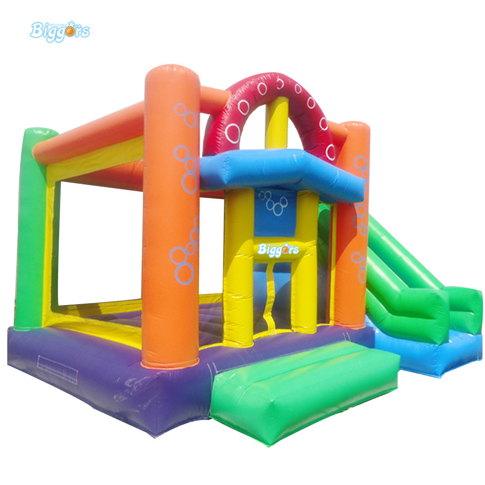 цена на Outdoor Commercial inflatable bouncing castle kids bounce house slide combo with blower