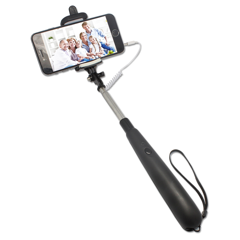 colorful foldable cable take pole selfie stick monopod with cable handheld tr. Black Bedroom Furniture Sets. Home Design Ideas