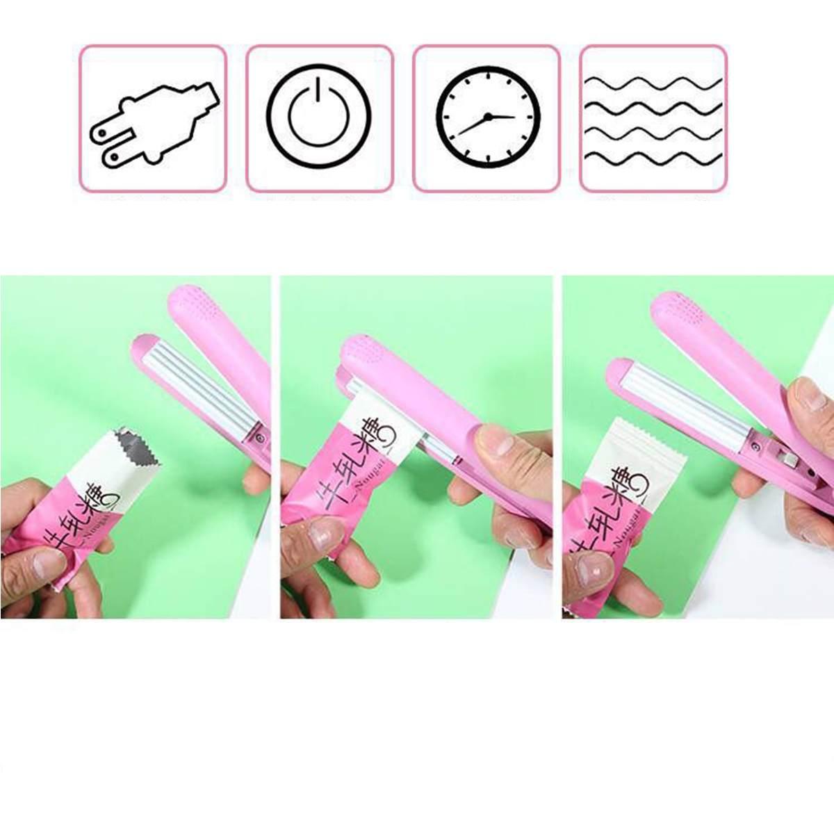 Home Vacuum Food Sealers Household Hand Press Mini Portable Nougat Bags Candy Bag Plastic Sealing Machine Snack Bag DIY Kit