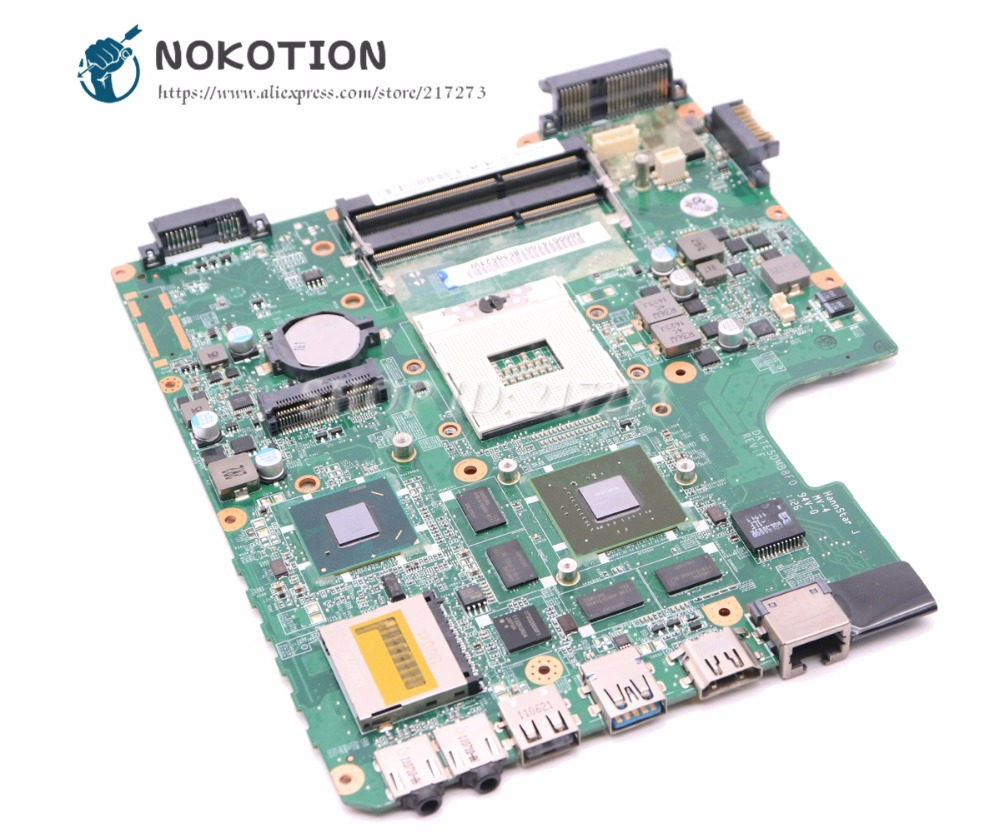 NOKOTION A000074700 DATE5DMB8F0 MAIN BOARD For Toshiba Satellite L700 L745 Laptop Motherboard HM65 DDR3 GT525M 1GB t000025060 main board for toshiba satellite dx730 dx735 laptop motherboard system board hm65 hd3000 ddr3