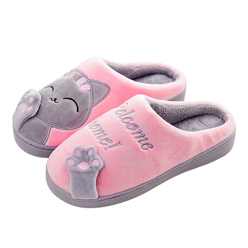 2018 Warm Cat Winter Shoes Women Lovers Home Slippers Comfort Home Shoes For Women Plus Indoor