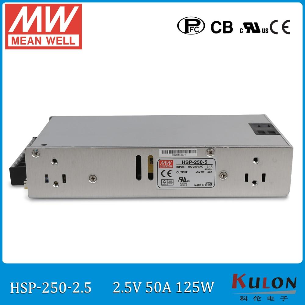 Первоначально Водитель в документе HSP-250-2.5 125ВТ 50А 2.5 в конформным покрытием источник питания 2,5 в блок питания с PFC для Moving знак водить панели