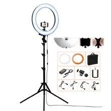 Fosoto камера фото/видео/телефон RL-18 55 Вт 240 LED 5500 К фотографии затемнения кольцо видео свет лампы с луна зеркало/штатив Стенд