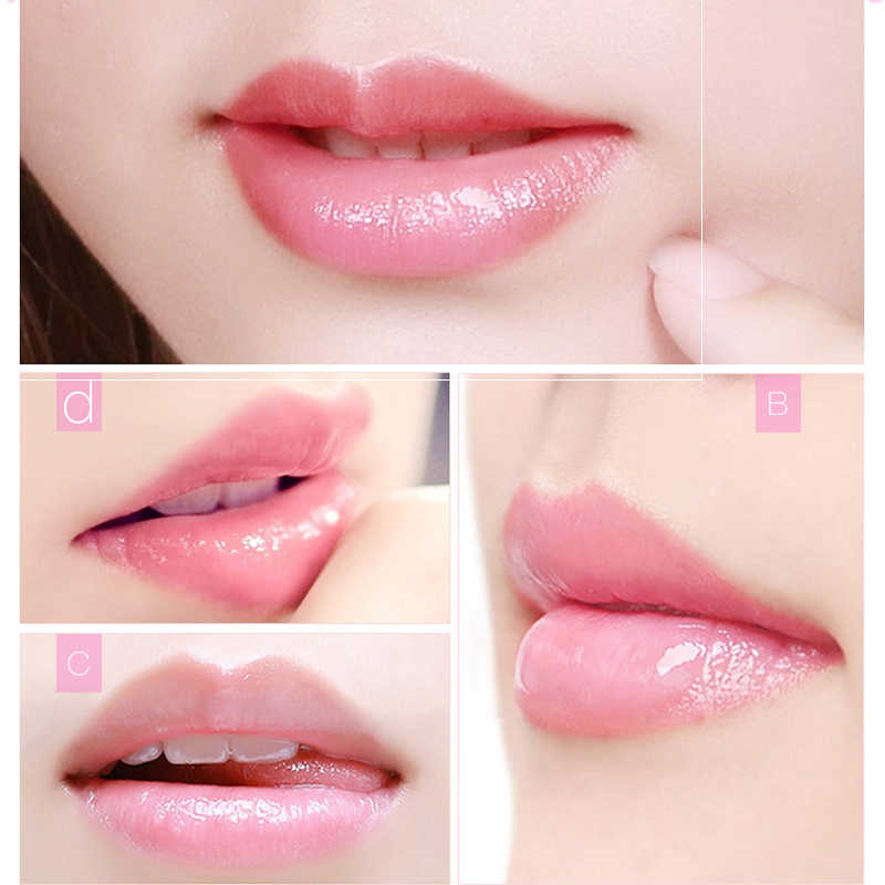 20 pcs המסכה ליפ השמנמן שפתיים לחות מהות צמח פרח תמצית פילינג אנטי-הזדקנות פילינג שפתיים לשפשף סרט
