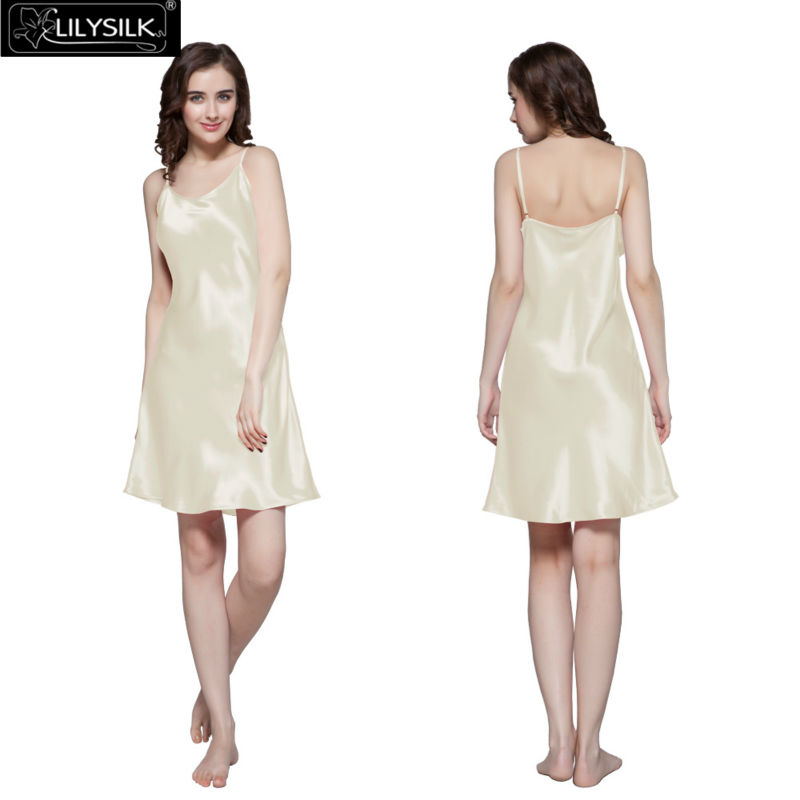 1000-beige-22-momme-short-feminine-silk-nightgown