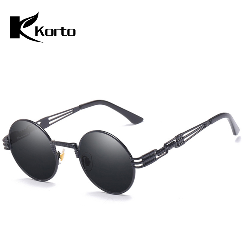 Retro Men Steampunk Sunglassses Round Sunglasses for Women Lady Circle Glasses without/no Degree 90S Fashion Hippie Eyeglasses