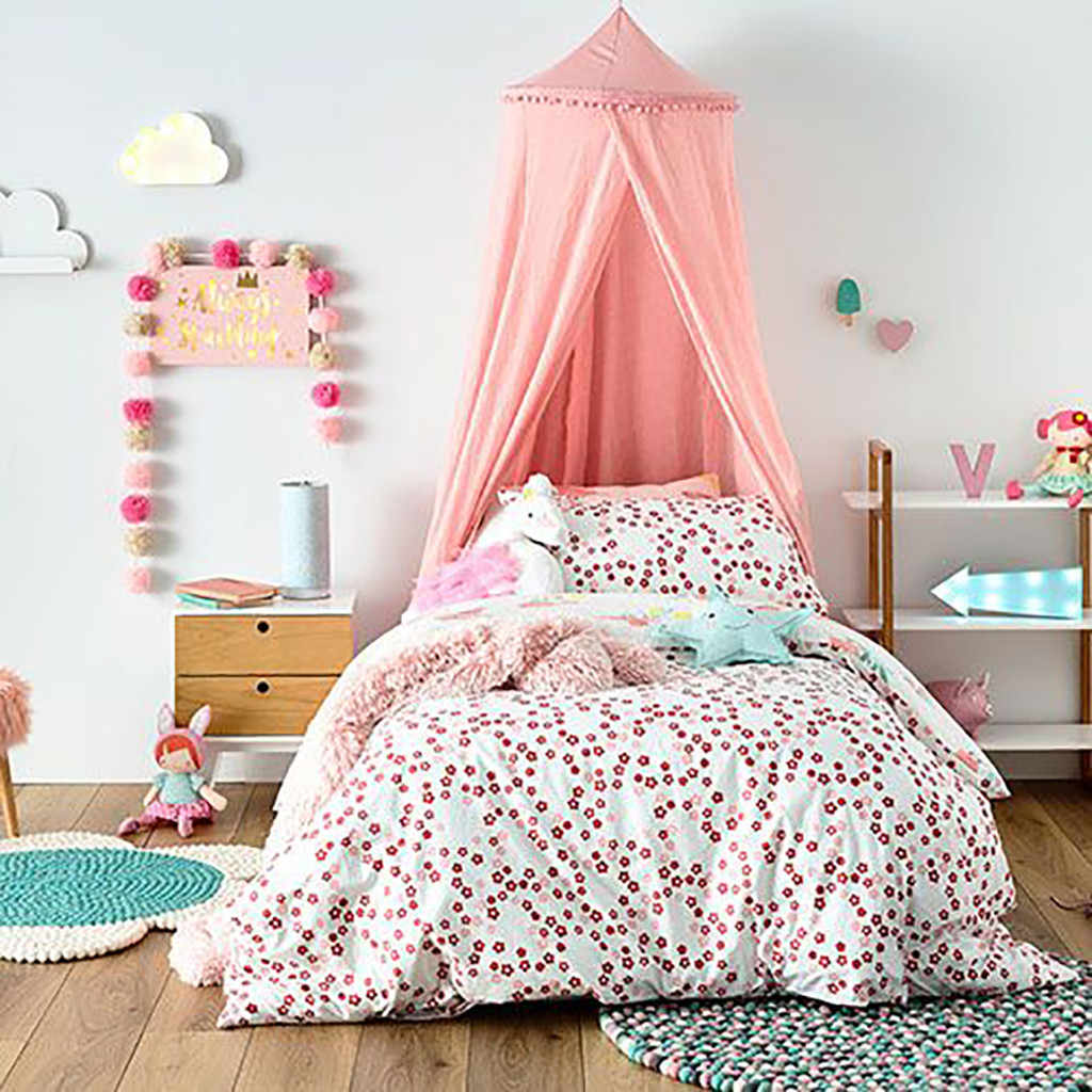 Kids Baby Bed Canopy Bedcover Mosquito Net Curtain Bedding Dome Tent Room Decor Insect Reject Canopy Bed Curtain Bed Tent #4Z