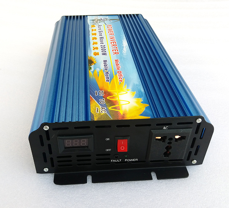 Digital display Pure Sine Wave Solar Power Inverter 2000W DC12 24V to AC120V 220V Power Supply in Inverters Converters from Home Improvement