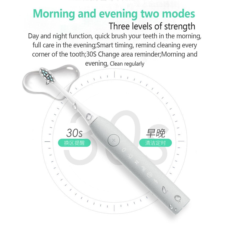 SmartSonic+ Adult electric toothbrush USB induction rechargeable electric toothbrush Sonic electric toothbrush IPX7 waterproof цена 2017