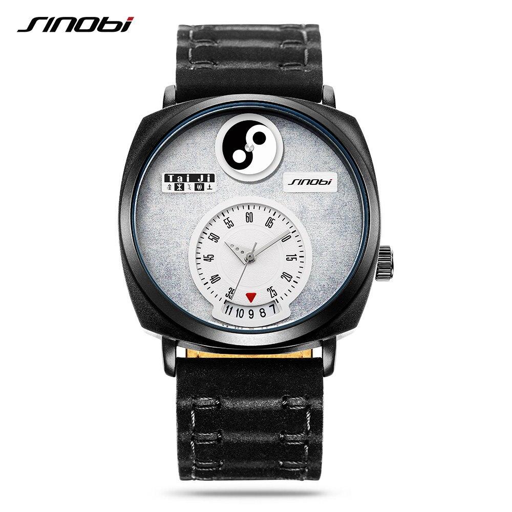 Sinobi Tai Chi Watch For Men Women Unique Dial Hour Calendar Chinese Philosophy Yin Yang feng shui Concept Creative Watches New футболка lin chi feng as1