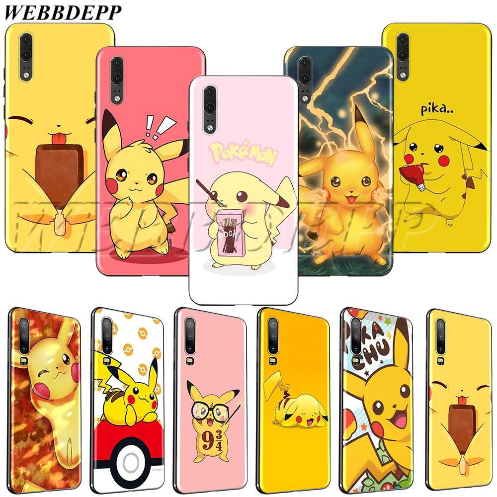 WEBBEDEPP Pikachu TPU soft Case for Huawei Honor Nova View 20 9X P20 Y9 5i P Smart Z Prime plus Lite Pro 2019