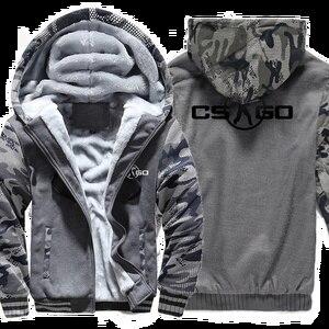 Image 3 - The Game CS GO Costume Mens Sportswear 2018 Winter Fleece Brand Thick Sweatshirt Zipped Hoodies Jacket Harajuku Tracksuit Hoody