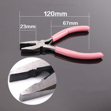 1Pc Pink Wire Cutter With Teeth Steel Plier Metal Beading Sewing Knitting Tool Equipment 120mm