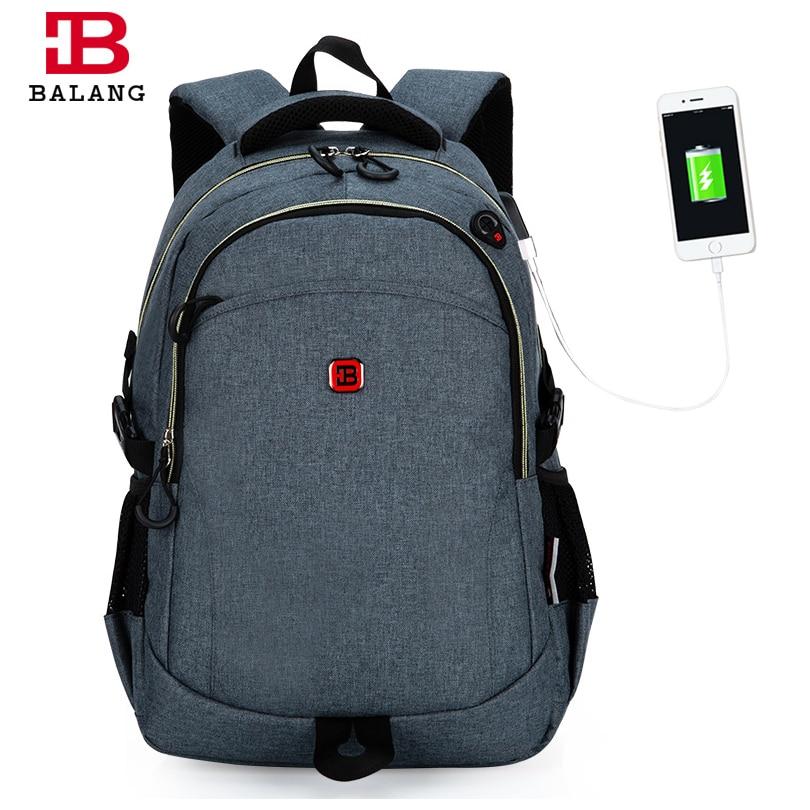 2017 New BaLang Laptop Bag Backpack Men Large Nylon Waterproof for 15.6 Inch School Shoulder Bag Men's Backpacks Women Bagpack dtbg laptop backpack for men women s 15 15 6 inch backpacks for apple mackbook waterproof nylon school travel bags notebook bag