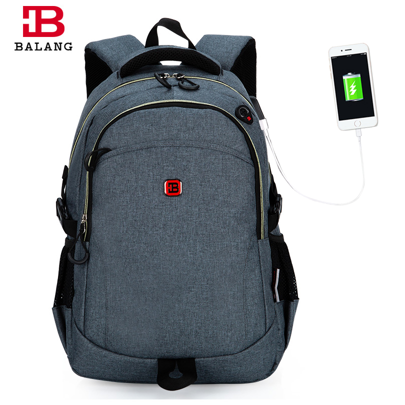 2018 New BALANG Laptop Bag Backpack Men Large Nylon Waterproof for 15.6 Inch School Shoulder Bag Men's Backpacks Women Bagpack large 14 15 inch notebook backpack men s travel backpack waterproof nylon school bags for teenagers casual shoulder male bag