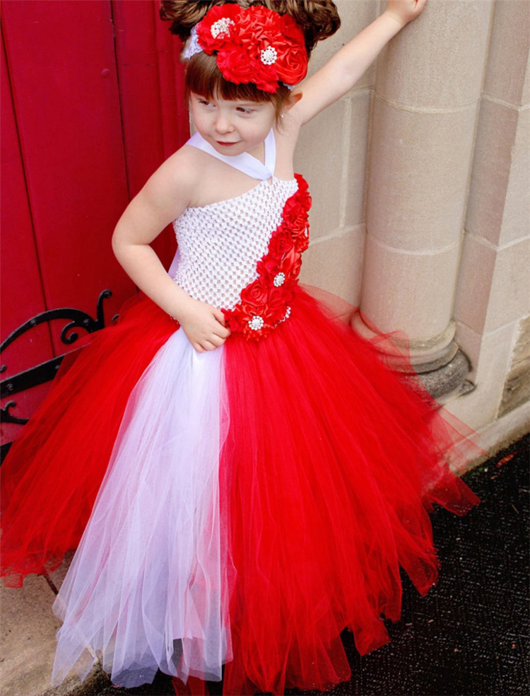 wholesale high quality soft nylon net baby boutique clothing children party dresses toddler pageant gowns girl red dress high quality girls baby hollow out bud silk condole belt dress princess party dresses children s clothing wholesale