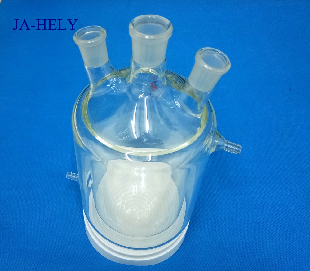 JA-HELY 50ml to 5000ml round bottom Glass Jacketed flask with tempering jacket sweet years sy 6285l 13