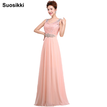 Suosikki Long Evening Dresses Chiffon Flower Floral TOP Lace Print Pattern Elegant Formal Gowns Evening Wedding Party Dresses