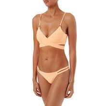 Bikini Sexy Soild 2pcs Set Women Swimsuit 2019 Summer Solid Swimwear Bathing Suit Beach Wear Female