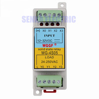 Din Guide 4Loop 5A SSR Compact Solid State Relay with Heat Sink
