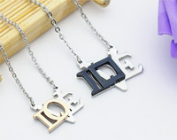 Stainless Steel Jewelry Trade Creative Couple Necklace With Chain Wholesale In The Hearts Of Men And