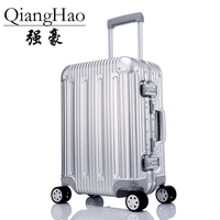 100 Pure Aluminum Alloy Pull Rod Suitcase 20 25 29 Inch Metal Luggage Fashionable New Type