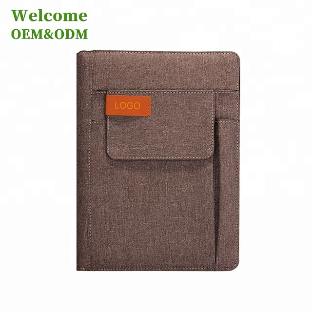 Wholesale A5 PU Custom Notebook For Fancy Bookmark,pockets For Cards,pen,cash,phone