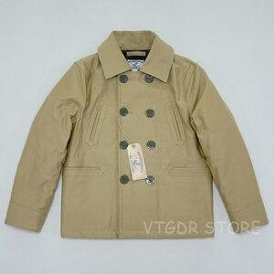 Image 3 - BOB DONG manteau dhiver Double boutonnage en laine pour hommes, veste de paon doublée pont, 740