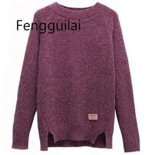 купить!  2019 женщин свитера пуловеры осень зима с длинным рукавом Pull Femme твердый пуловер женский случайн