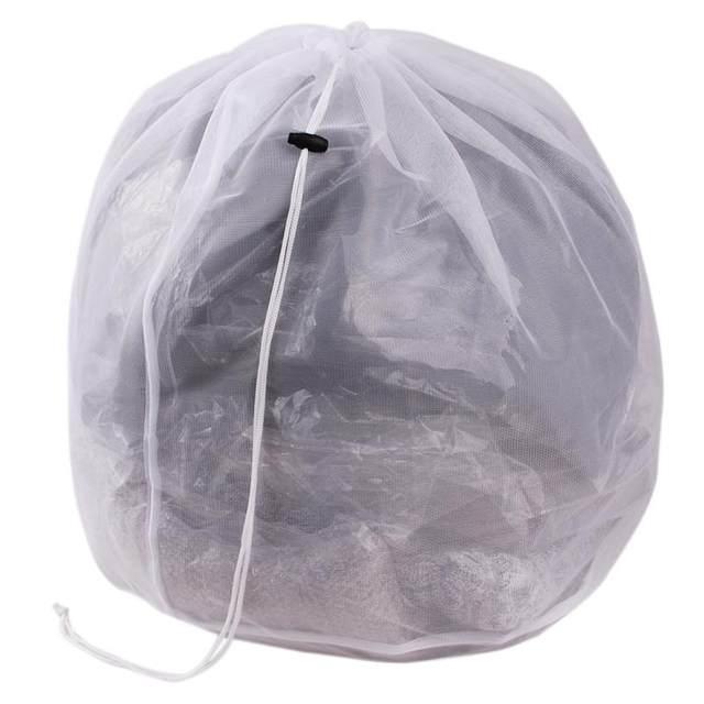 Laundry Bag Clothes Washing Machine Bra Aid Mesh Net Wash Draw Cord Yl872666