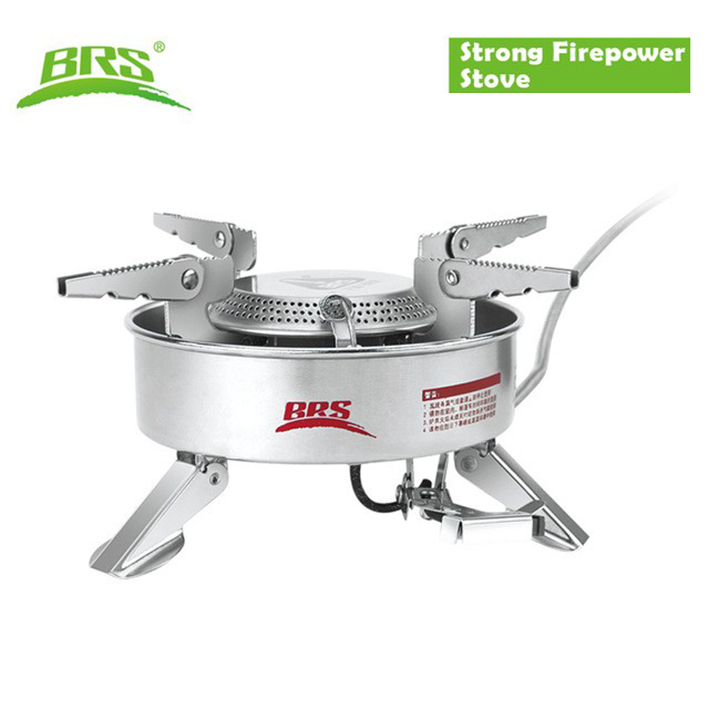 BRS 10 Strong Firepower Camping Gas Stove Backpacking Gas burner CampStove Lightweight Piezo Ignition Stove With Storage Box