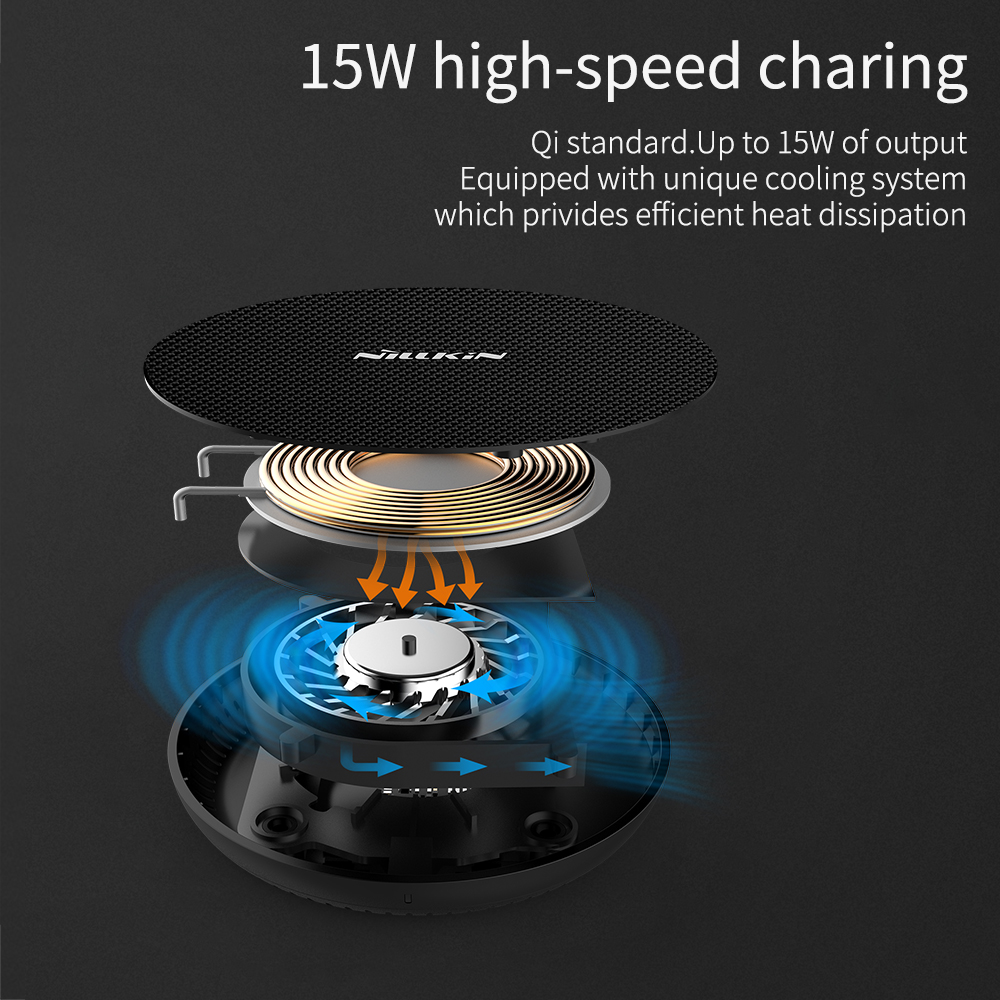 NILLKIN 15W 7.5W Qi Fast Pad Wireless Charger for Xiaomi 9 for iPhone 11 XS Max X for Samsung Note 10 10+ S10 S9 Plus for Huawei