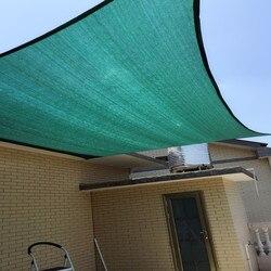 4x4 M/szt. Parasol przeciwsłoneczny żagiel 95% cieniowanie ochrona UV siatka HDPE do markizy ogrodowej