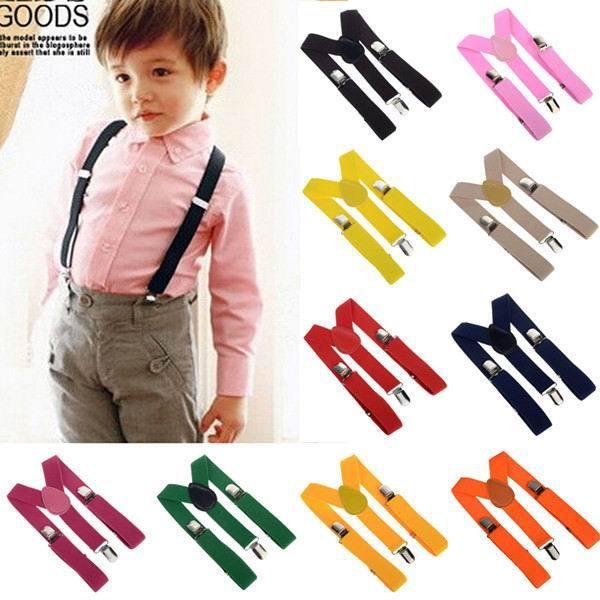 2018 Unisex Kids Boy Girls Clip on Suspenders with Adjustable Elastic Braces Children Apparel Accessories Sfcxo