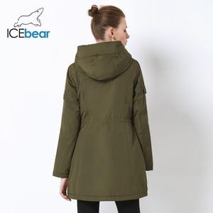 Image 4 - ICEbear 2019 neue herbst frauen jacke hohe qualität parka casual damen jacke schlank mit kapuze marke jacke GWC18010I