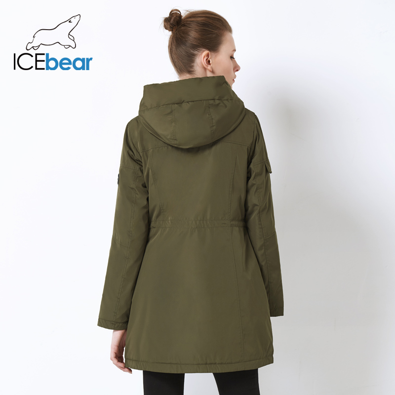 Image 4 - ICEbear 2019 new fall women jacket high quality casual ladies jacket slim hooded brand jacket GWC18010I-in Parkas from Women's Clothing