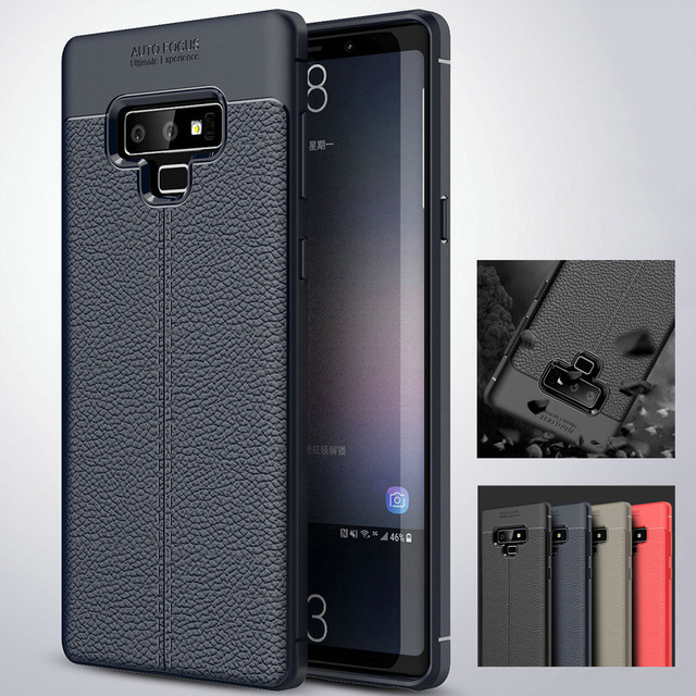 3956dcf20b9 JETJOY Auto Focus Leather Case for Samsung Galaxy Note 9 Luxury Rugged  Rubber Shockproof Protective Phone Case Covers