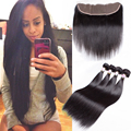 Brazillian Straight Hair With Frontal Lace Frontal Closure With Bundles Straight Hair Mink Brazilian Hair With Frontal Closure