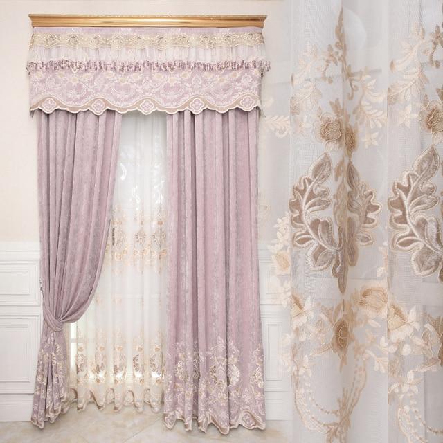Custom gordijnen Europese Tuin pastorale luxe woonkamer slaapkamer ...