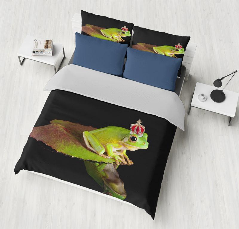 Bedding set 2/3pcs 3D Bedding Sets blue Print ocean fish Shell Duvet cover sets Frog crown Bedding set 2/3pcs 3D Bedding Sets blue Print ocean fish Shell Duvet cover sets Frog crown